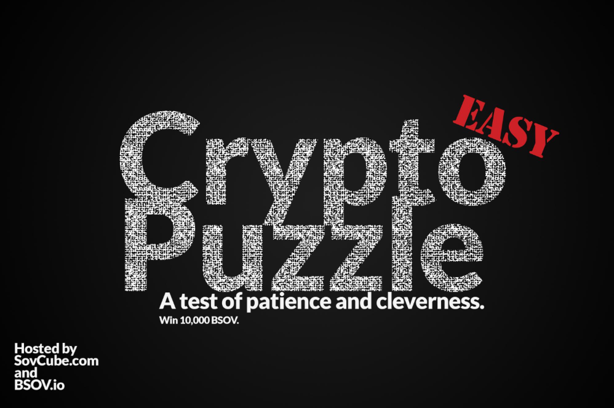Easy Crypto Puzzle.